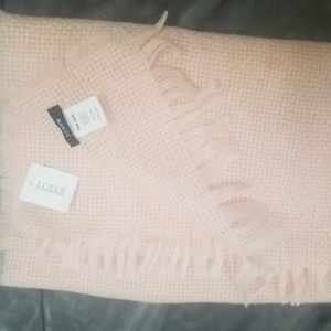 J.crew mohair wool  pink scarf  made in italy